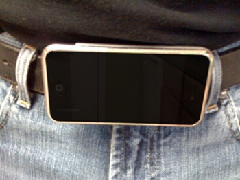 Real iPhone Belt Buckle