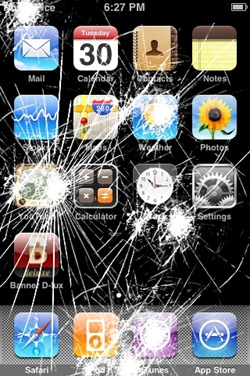 iSurprise Cracked Screen