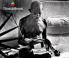 ghandi apple think different