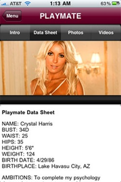 playmate-data-sheet