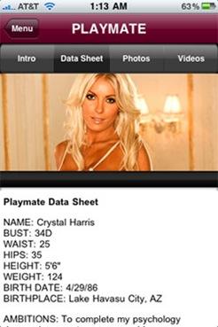 playmate-data-sheet
