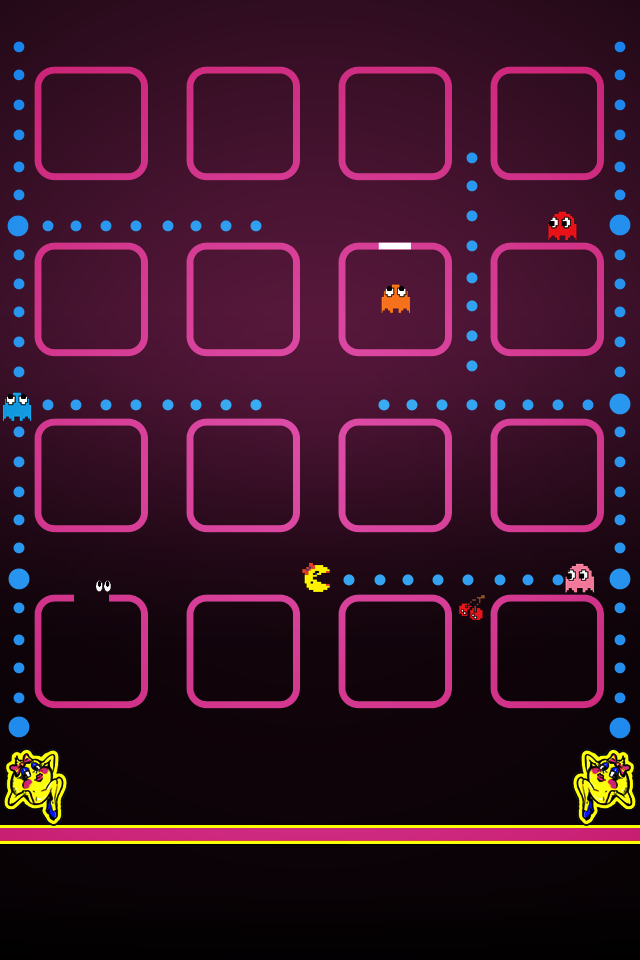 Ultimate Pac Man Iphone Ios 4 Wallpaper Collection 10 Downloads