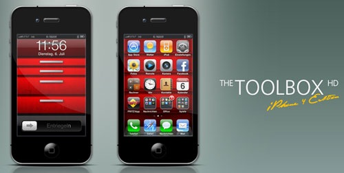 Epic The Toolbox Iphone Ios 4 Home Lock Screen Wallpaper Set